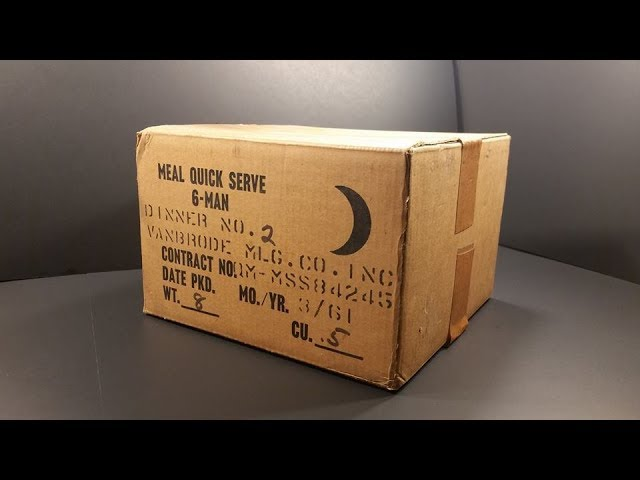 1961 Meal Quick Serve 6 Man MRE 7,200 Calorie Prototype Ration Review Meal Ready to Eat Testing