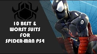 10 BEST AND WORST SUITS FOR SPIDER-MAN PS4