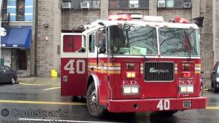 FDNY Engine 37 + Tiller Ladder 40 Turnout