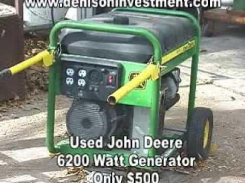 john deere 6200 watt generator denisoninvestment com youtube rh youtube com John Deere 6000 Watt Generator John Deere Generator Engines