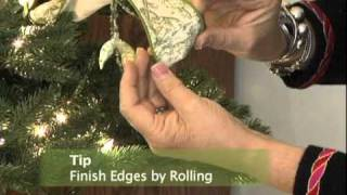 Great tips, unique uses of ribbon for a spectacular Christmas Tree....