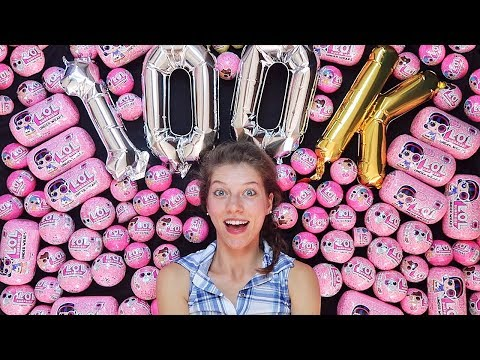 Opening 100 LOL Surprise Dolls!!! | 100,000 Subscriber Special