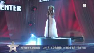 "Amazing 8 Year Old Angelina Jordan Sings ""Shot Me Down"" Bang Bang On Norway"