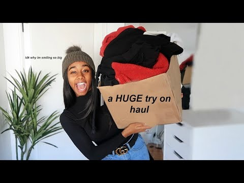 another HUGE try on clothing haul