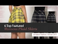 6 Top Featured Womens Plaid Skirts Amazon Fashion, Winter 2017