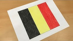 Belgian Flag Drawing 🇧🇪