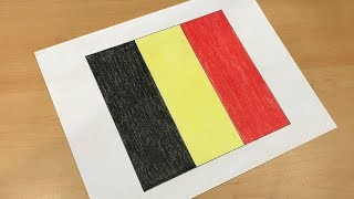 How to Draw the Belgian Flag | Flag Speed Draw