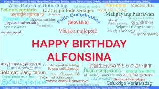 Alfonsina   Languages Idiomas - Happy Birthday