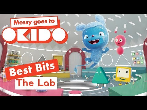 Messy Goes to Okido - Cloudship Lab Best Bits | Cartoons For Children | Cbeebies