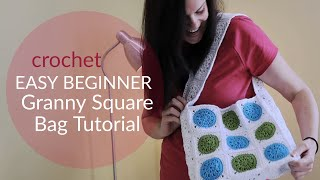 Today I share with you my very easy and beginner friendly granny square bag! A super easy project that you can work on at your leisure and also is a great way ...