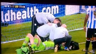 leeds united fan hooligan assaults sheffield wednesday goalkeeper 19/10/12