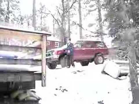 Spencer White Hay Bail Jump Snowboard