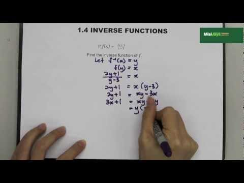 Form 4 Additional Mathematics Chapter 1 Functions