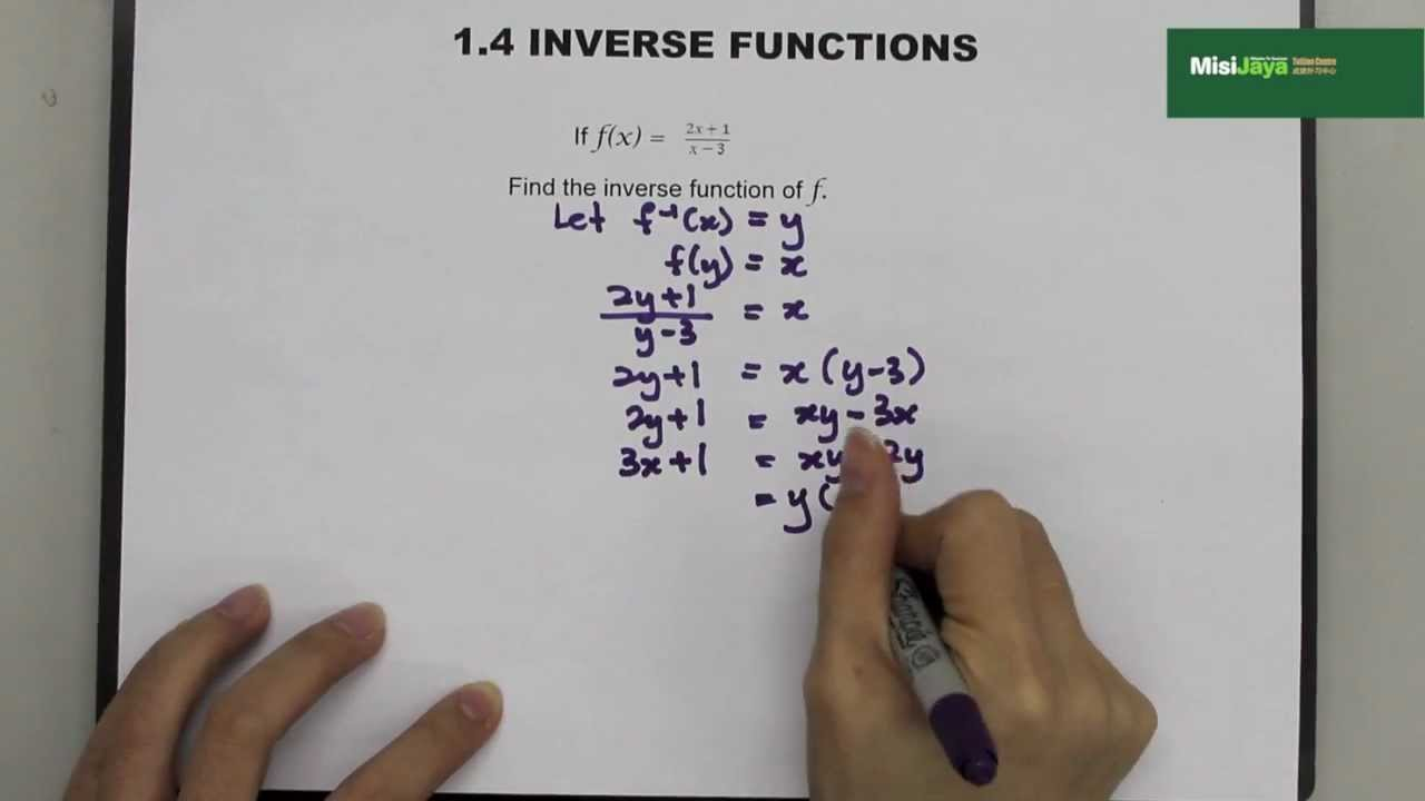 Form 4 Additional Mathematics Chapter 1 Functions - YouTube