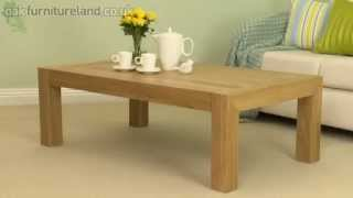 Pablo Solid Oak Coffee Table From Oak Furniture Land