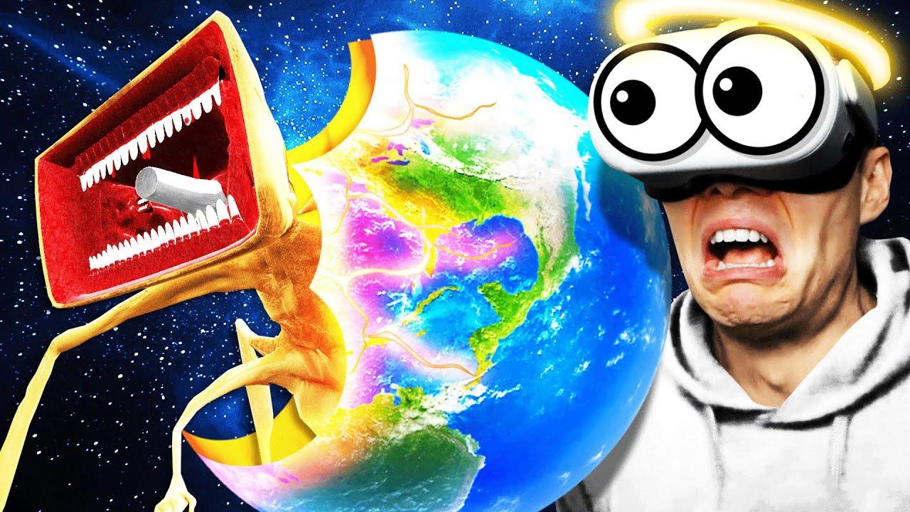 Creating MEGAHORN PLANET In VR GOD SIMULATOR