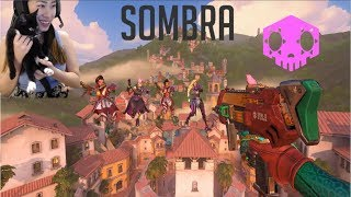 Overwatch - Sombra Glitch on New Castillo Map! (includes cats)