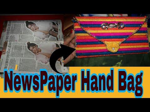 DIY|NewsPaper HandBag||Best Out Of Waste||Paper Bag Making Tutorial'Very Easy'At Home