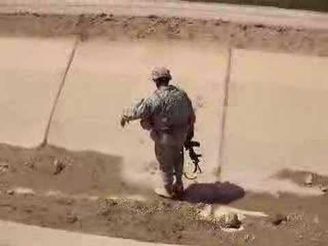 Soldier Trapped in Canal
