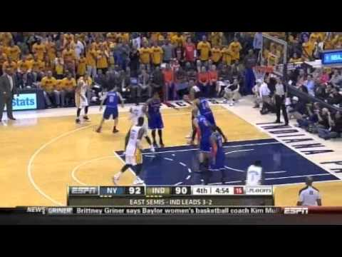 Roy Hibbert stuffs Carmelo Anthony in Game 6