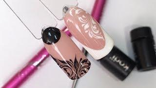 Дизайн ногтей: Вензеля гель-красками Kodi