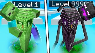 ZOMBIE FALLEN TURM vs. ENDERMAN FALLEN TURM in Minecraft!
