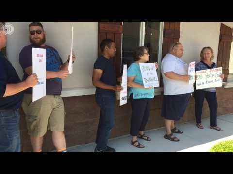 Rep. Steve. Palazzo protested