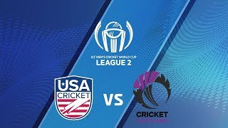ICC Men's Cricket World Cup League 2 2019- USA vs SCOTLAND