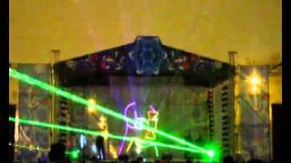 Лазерное шоу и фейерверк на площади Куйбышева