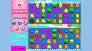 Candy Crush Saga Level 134 New NO BOOSTERS Cookie