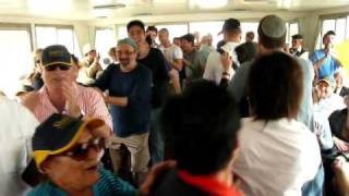 Jews and Chinese dancing on a boat in Hangzhou