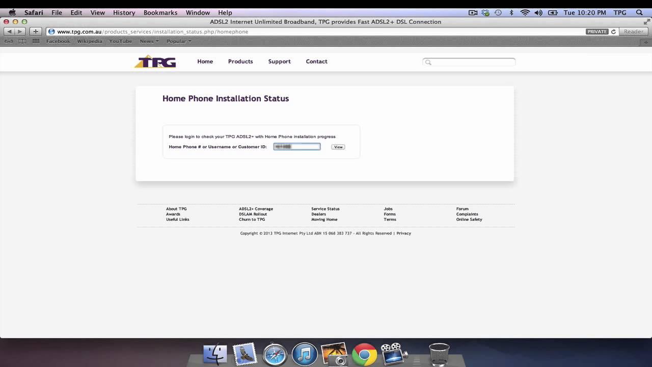 TPG Installation Status