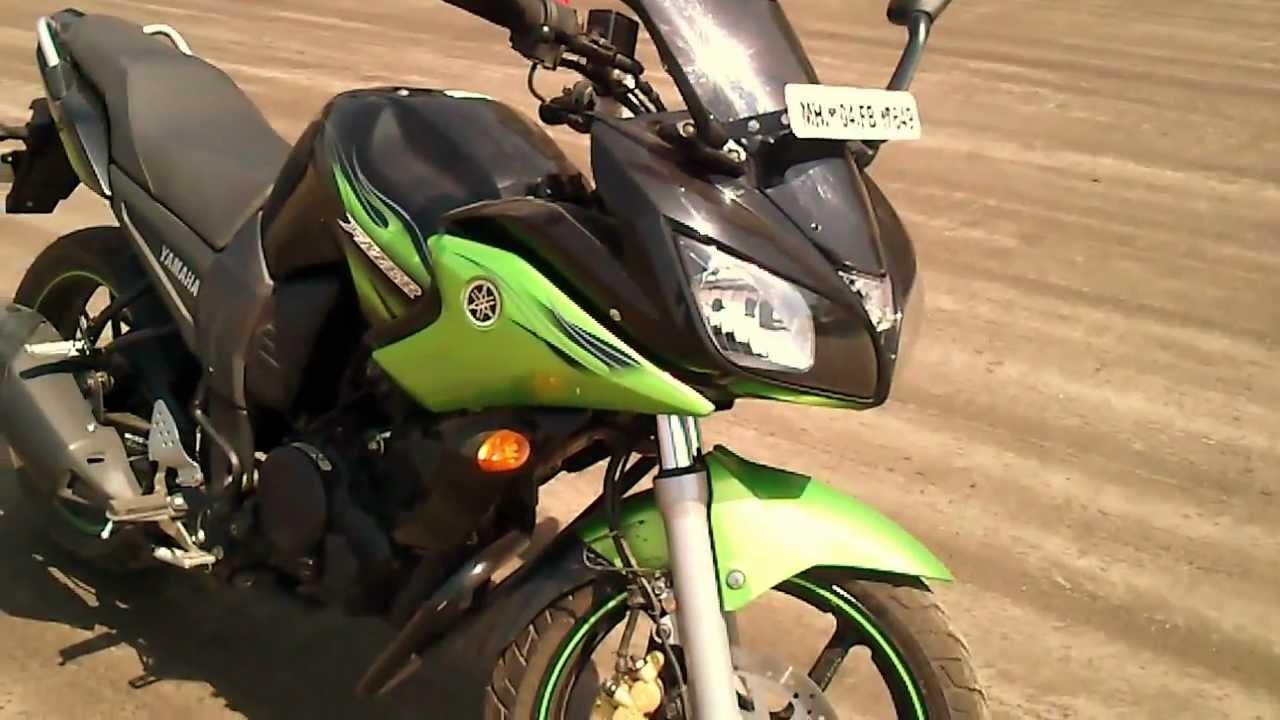 Yamaha Fazer 150cc Cyber Green bike in India 2012.Shoot ...