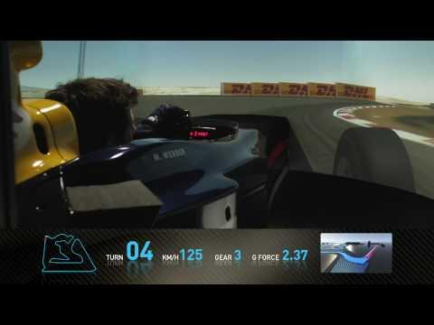 F1 Track Simulator - Mark Webber At Bahrain