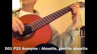 D01 PG23 Anonyme - Alouette, gentille alouette