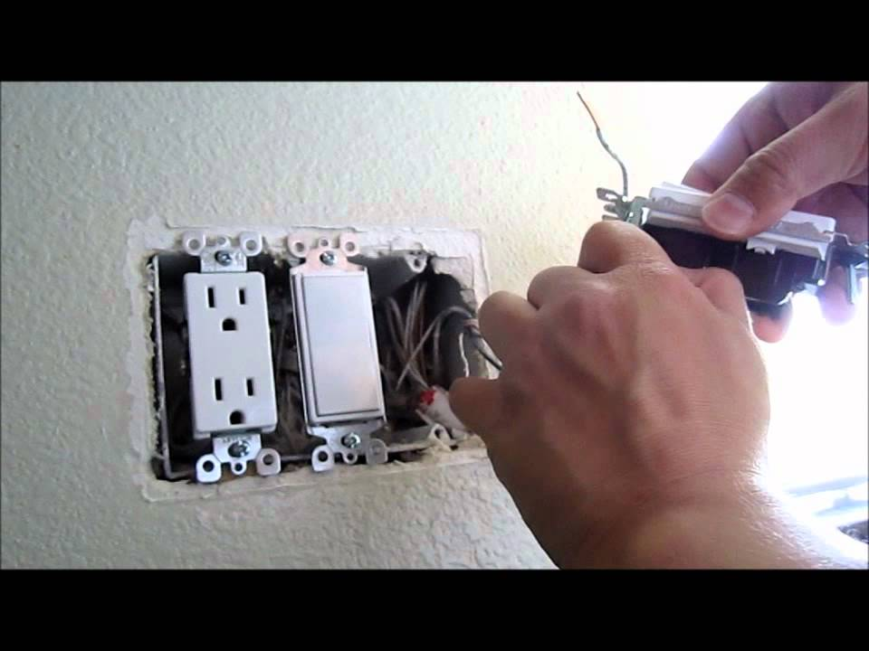 How to replace and install a new light Single Pole Switch - YouTube