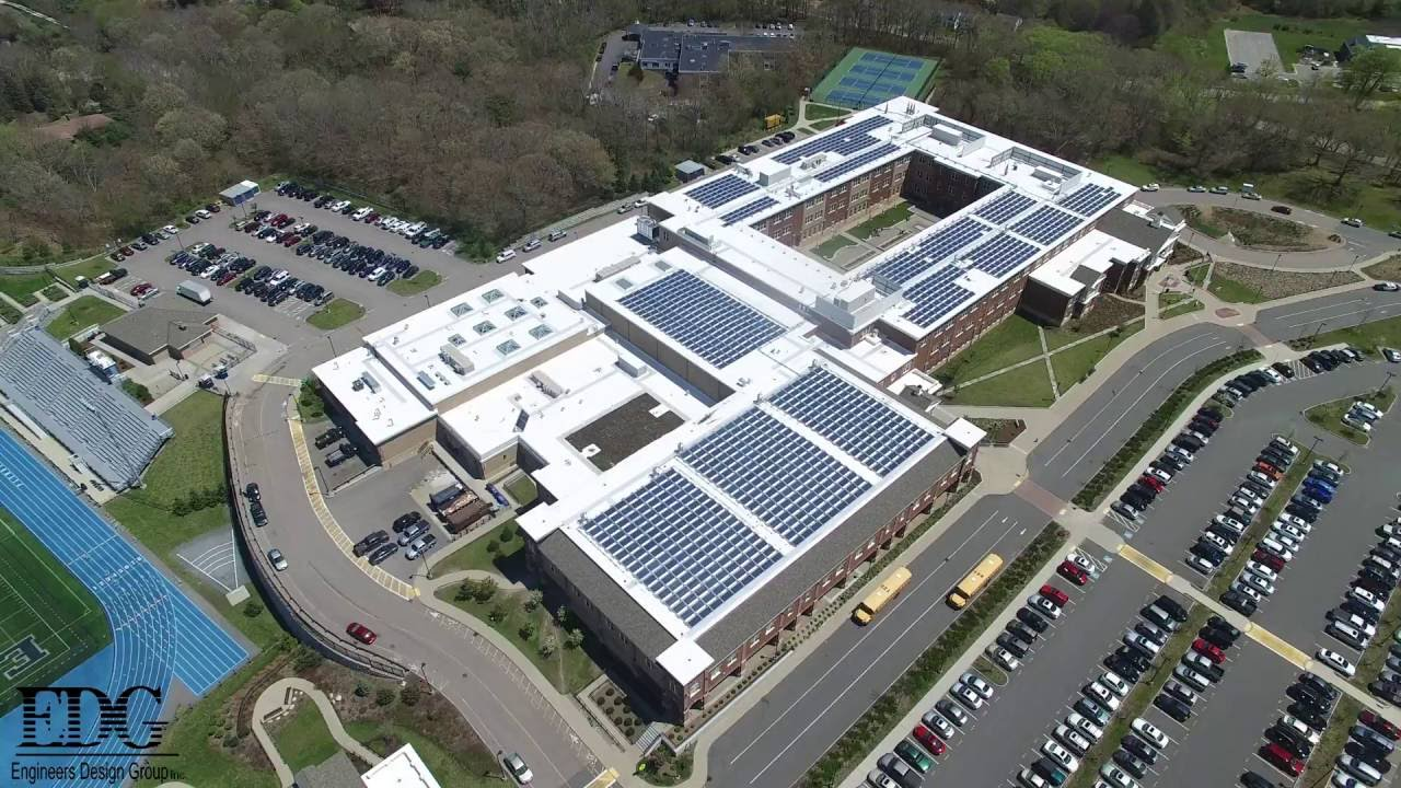 Plymouth North High School aerial footage. - YouTube