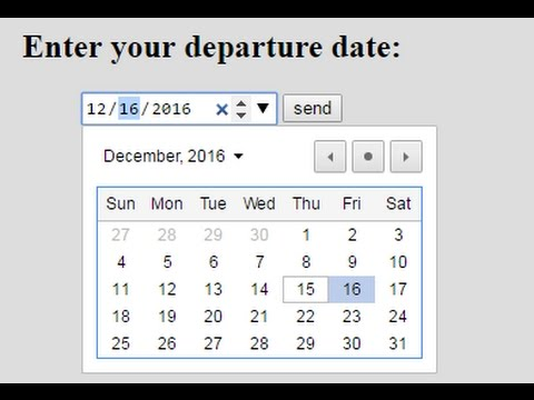 How The Date Form Attribute Works In HTML5-Easy Tutorial