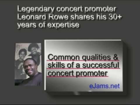 Common qualities and skills of a successful concert promoter