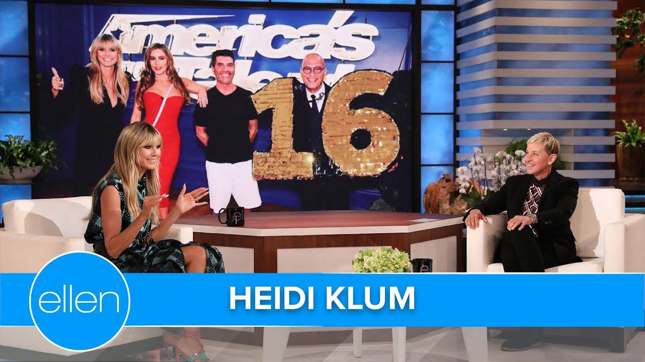 Heidi Klum Taught Howie Mandel How to Walk in High Heels - See ...