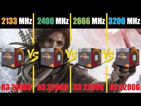 Ryzen 3 2200G APU vs RAM DDR4-2133 vs 2400 vs 2666 vs 3200 MHz