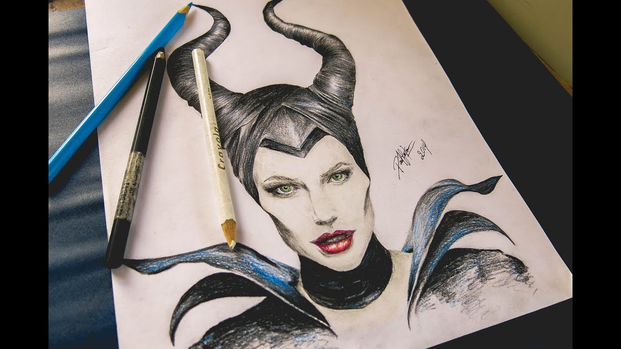 Speed Drawing Maleficent, Malefica Dibujo (Angelina Jolie