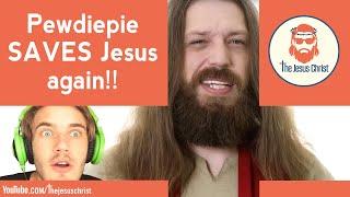 Pewdiepie saves JESUS, again! #savejesus #justiceforjesus