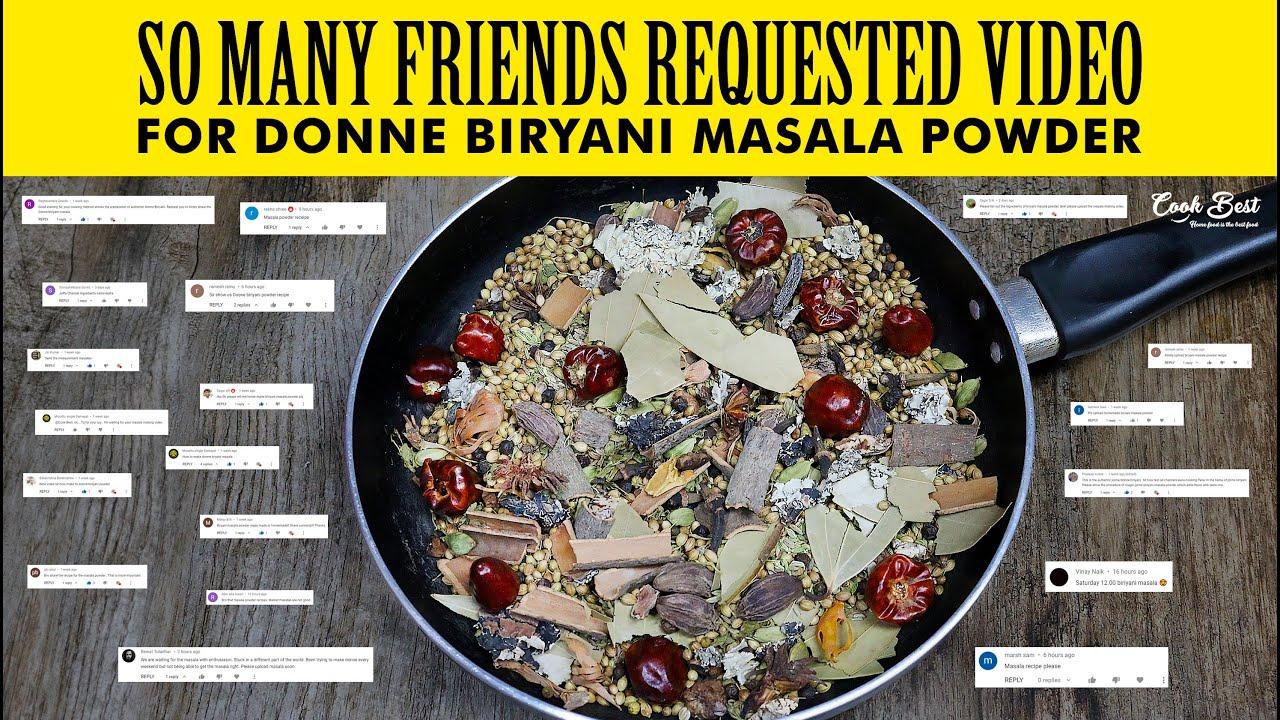 100% Donne Biryani Masala Powder   Homemade Donne Biryani Masala Powder   @Cook Best