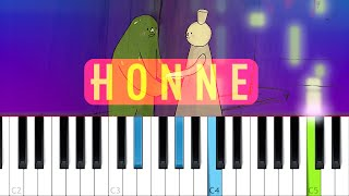 HONNE - no song without you (Piano tutorial)