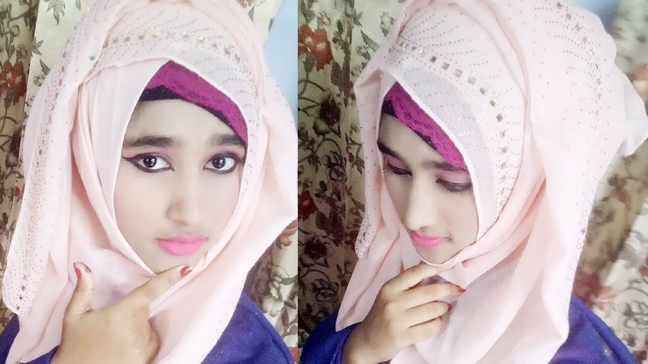 simple party hijab style for any Occasion , 2017