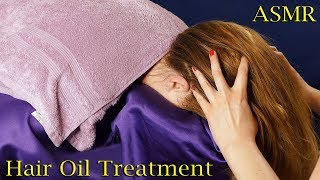Spa Hair Oil Treatment w/ Hair Brushing and Scalp Massage ASMR