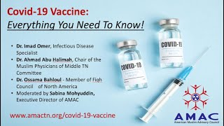 AMAC Covid 19 Vaccine Webinar January 16, 2020