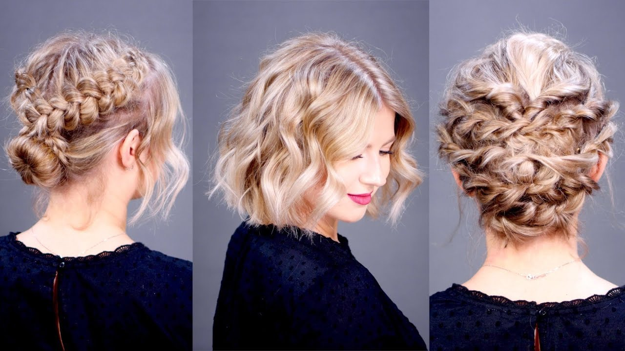 three holiday elegant short hairstyles