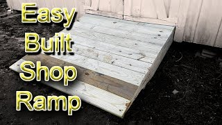 Easy to Build Shed Ramp